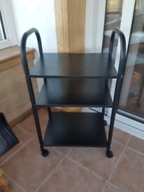 3 shelf table with wheels