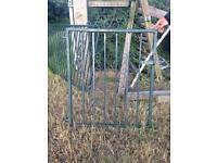 Garden gate wrought iron railings