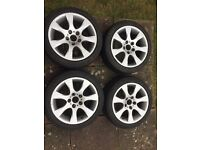 "17"" BMW alloy wheels with tyres"