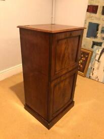 Antique mahogany wine cupboard cooler storage