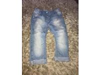 Next Girls Jeans - 12 to 18 months
