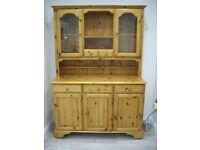 Ducal Pine Kitchen Dresser Sideboard With Lights