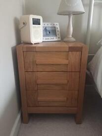 M&S sanoma light solid oak bedside cabinets