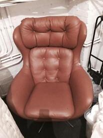 Retro vintage brown chair