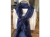 Alexander McQueen Silk Scarf - Midnight blue