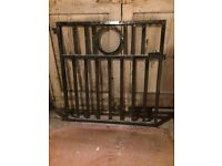 Edwardian heavy steel garden gate