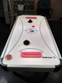 Air Hockey Table - Fully functioning, complete with paddles, spare pucks and easy to assemble