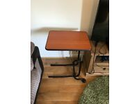 Small table to hover over the sofa for knee injuries/lower limb injuries