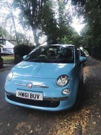 REDUCED PRICE 1.2 litre Manual Blue Fiat 500 lounge