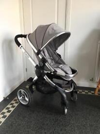 iCandy Peach 2 pram & stroller - silver mint
