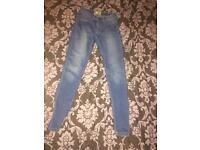 Size 6 blue skinny jeans