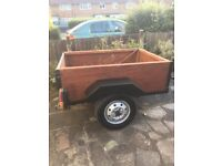 wooden box trailer