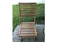 5x Wooden garden chairs
