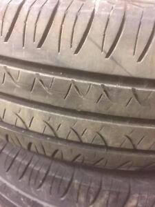 4 pneus d'été, Hankook, Optimo H724, 175/70/14, 40% d'usure, mesure 7-7-6-6/32.