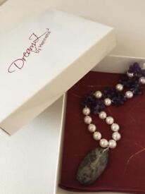 Amethyst necklace one of a kind.