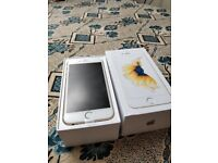 *Apple iPhone 6S gold 64gb, UNLOCKED boxed charger fully working