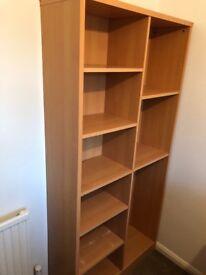 Oak effect bookcase for sale