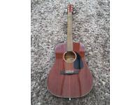 Fender CD 60 acoustic guitar. Mahogany. Brand new. In box with storage carry bag. £120. Torquay.
