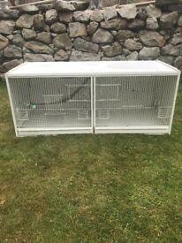 Double bird breeding cage