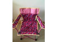 Child's fold up camping chair - new price