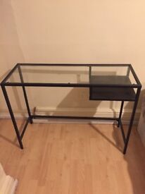 Glass Table Black Metal Frame