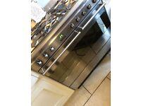 Silver smeg 5 hob gad oven