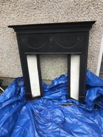 Antique 1950,s fireplace