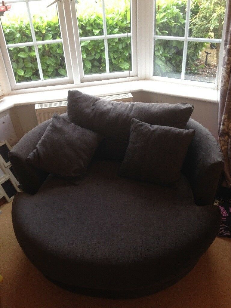 Next Grey Round Swivel Chair In Broughton Astley Leicestershire Gumtree