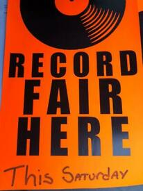 Vinyl record sale sat 23 rd October free entry 10-3 St. John's hall hythe