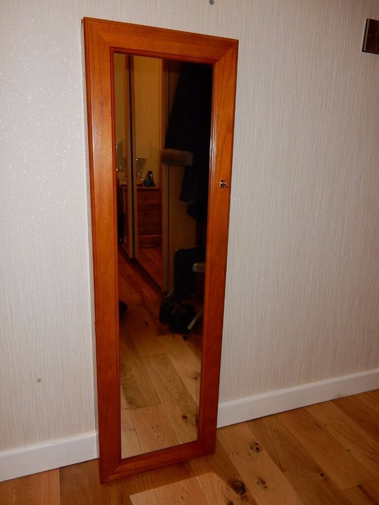 Lockable Bedroom Furniture Tall Wall Mounted Lockable Jewellery Cabinet With Mirror Door