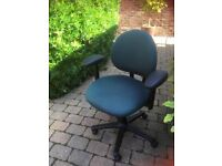 Swivel adjustable padded desk chair