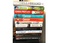Selection of hard back books