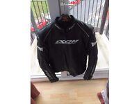 Ixon motorbike leather jacket size L