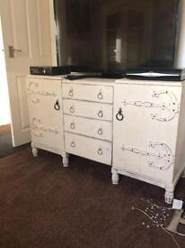 Shabby chic sideboard £95