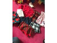 Baby girl dresses and cardigan