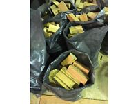 Bags of firewood dry ideal for kindling