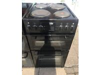 BEKO 50CM BRAND NEW SOLID TOP ELECTRIC COOKER IN BLACK