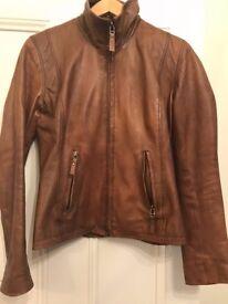 Women's camel leather jacket