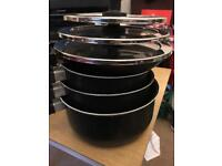 Set of 3 Tefal Saucepans and 1 Tefal Frying Pan to match