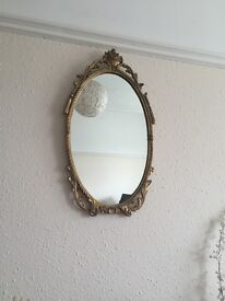 Gold vintage style/ shabby chic/ rococo mirror