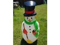 Moulded Santa and snowman
