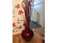 Lovely big red vase