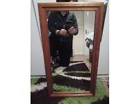 Nice wood framed mirror for sale £15