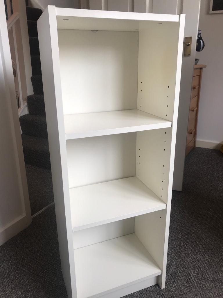 Simple White Shelf Unit Bookshelf