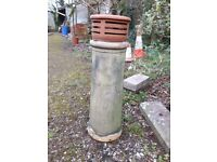 Vintage Chimney pot with attached cowl