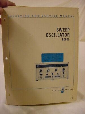 Vtg Manual - Hewlett Packard Hp 8690b Sweep Oscillator Operating Service Manual