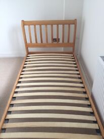 Single pine bed in excellent condition