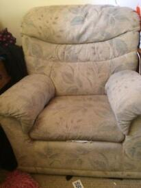 three seater suite with two chairs