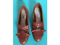 Clarks ladies shoes,U.K. Size 5/6, worn once,exactly as seen in pics,quick sale at £45, cost £124.95