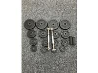 40KG METAL DUMBBELL SET WITH FAT GRIPS